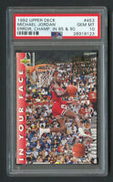 1992 Upper Deck Michael Jordan #453 Error Champ PSA 10 Gem Mint!