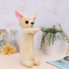 Fashion Cute Plush Fluffy Dog Animal Pencil Case Makeup Bag Pouch Zip Purse 1pc