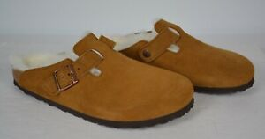 Birkenstock Boston Suede Leather Shearling Mink 265, EUR 41- Women's 10 -Men's 8