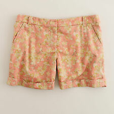 """NWT J.Crew 4"""" 'Washed Floral River Short' Size 0"""