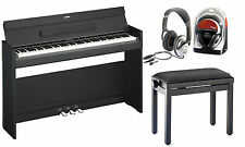 Yamaha ydp-s52b piano Digital Bundle con piano banco y auriculares