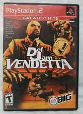 Sony Playstation 2 PS2 Def Jam Vendetta Greatest Hits Game Case No Manual Good