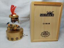 Steinbach Nutcracker Balthasar Wiseman Musical NIB Wood Box Silent Night Wind Up