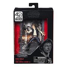 NEW! Hasbro Star Wars The Black Series 40th Anniversary Titanium Series Han Solo