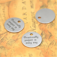 10pcs/lot Practically Perfect in every way charm silver tone message charm 20mm