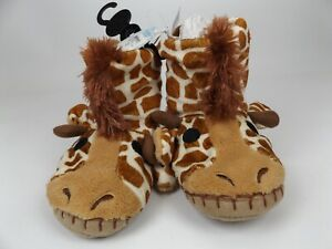 LITLE BLUE HOUSE Toddler Giraffe Slippers Boots Unisex Baby Sz 5-7 T, NEW, 18487