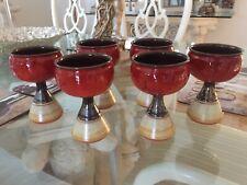4PCS 1:12 Dollhouse Miniature DIY Cocktail Glass Red Wine Goblet Js