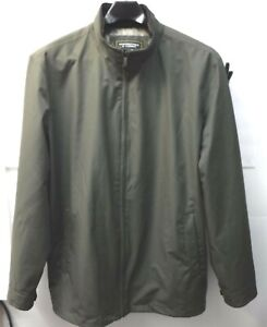 Roundtree & Yorke Outerwear Size XLT Green Water Proof Jacket Tall Mens