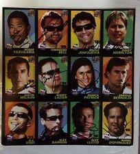 3 Indy 500 signed Card Sheets Indianapolis  Auto Dan Wheldon Justin Wilson Etc