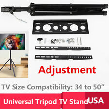 "Portable Tripod Tv Stand - Television Lcd Flat Panel Monitor Mount (Up to 50"")"