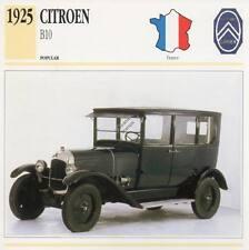 1925 CITROEN B10 Classic Car Photograph / Information Maxi Card