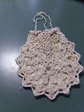 Victorian Attire Civil War Accessory Hand Beaded Crochet Purse Reticule New