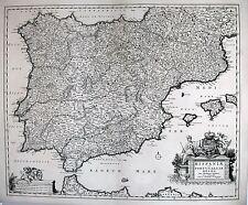 Antique map, Hispaniae et Portugalliae Regna