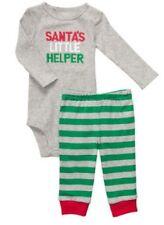 SALE 24 months Christmas Santa's Little Helper 2 pc Green Red Santa Face NWT
