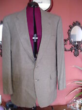 Men Jos A Bank Size 46L Multi color Houndstooth Wool/Silk Sport Coat Blazer GUC