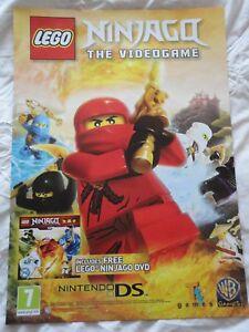 LEGO NINJAGO THE VIDEOGAME PROMO POSTER brand new RARE!