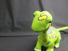 "Cool Brachiosaurus Dinosaur Green Pink Blue Yellow Plush Stuffed Animal 20"""