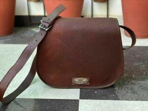 Leather Handbag Shoulder Bag Satchel Messenger (Up to 13 Inch) Vintage Women's