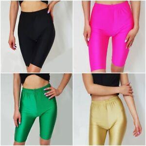 New Ladies Women's Florescent Cycling Shorts Dancing Zomba Lycra Leggings Shorts