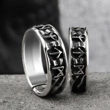 Antique Nordic Jewelry Viking Ring Punk Fashion Black Amulet Vintage Norse Rune