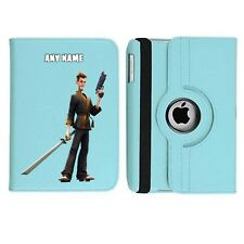FORT NITE 9 Name Personalised iPad 360 Rotating Case Cover Birthday Present Gift