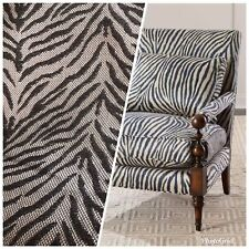 Designer Upholstery Heavyweight Burnout Zebra Chenille Fabric- Dark Gray BTY