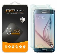 3X Supershieldz Samsung Galaxy S6 Tempered Glass Screen Protector Saver