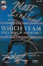 Bas Rutten Carlos Newton Royce Gracie Don Frye +1 Signed IFL Program PSA/DNA UFC