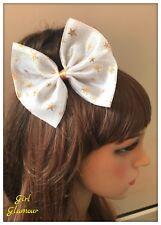 GOLD Star Capelli Bow Tie elastico clip Balletto Vestito Tutu Glitter Discoteca Unicorno
