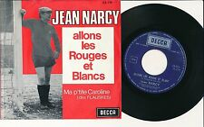 """SPORT FOOTBALL JEAN NARCY 45 TOURS 7"""" BELGIUM STANDARD ALLONS LES ROUGES"""
