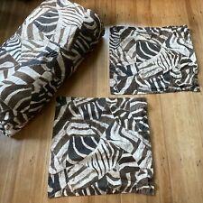Ralph Lauren Victoria Falls Animal Print Sateen Queen Comforter & Euro Shams 3pc
