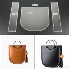 Clear Leather Pattern Acrylic Templates for Shoulder Bags Handmade Gift 4Pcs/Set