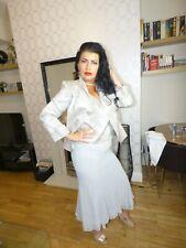 Designer Luis Civit MOB Mother Of The Bride 3 Piece Suit Outfit Champagne UK 14