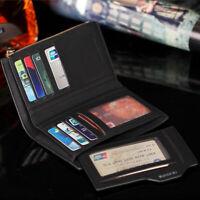 Men Leather Short Money Clip Bifold Coin Bifold Wallet ID Credit Card Holder Hot