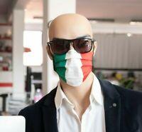 MASCHERINA VISO PERSONALIZZATA LOGO BANDIERA ITALIA TNT 100% MADE in ITALY NUOVA