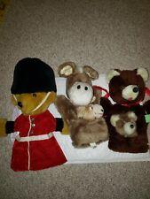 MerryThought Vintage Lot of 3 Puppet English Teddy Bear Palace Guard Ironbridge