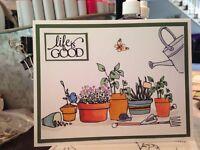 handmade Card Kit Stampin' Up! Succulents Garden Spring