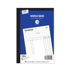 A5 SIZE INVOICE RECEIPT CASH DUPLICATE BOOK NUMBERED CARBON COPY SHEETS