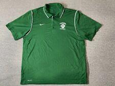 Nike DriFit Shirt Mens Adult XLarge Size Green Football Short Sleeve Collared XL