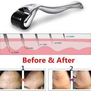 Derma Micro Needle Titanium Roller Face Anti Aging Hair Growth Beard Regrowth `
