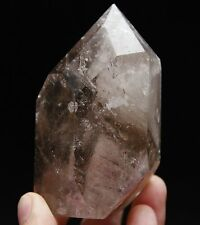 Big Clear Quartz Crystal Point with Multilayer White Phantom Mineral Inclusions