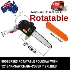 ROTATABLE 7T POLESAW POLE SAW HEAD W/BAR CHAINSAW COVER BRUSHCUTTER HEDGETRIMMER