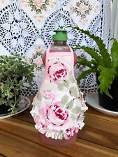 Rosalie Pink Trim Ruffle Ashwell Shabby Kitchen Bath Soap Lotion Bottle Apron