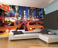 315x232cm Giant wall mural photo wallpaper New York Taxi Cabs at night view