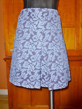 BODEN Floral Wool Poly Front Pleat A-line mini dress SKIRT sz 12 R