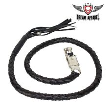 """50"""" Long Black Get Back Whip for Motorcycles - free shipping"""