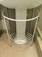Bathroom Storage Rack white Under Pedestal Sink Towels Stand Modern Shelves