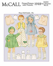 1930's McCall 1918 - Patsy Doll Clothes Sewing Pattern - 14 inches