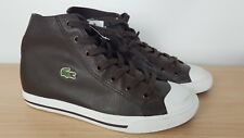 Lacoste Ladies Cons Style L27 Mid Hi Brown Ankle Boots Trainers, UK 4 EU 37