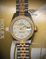 Rolex Datejust 26 18k Gold/Steel Jubilee Dial Diamond Bezel Ladies Watch 179173
